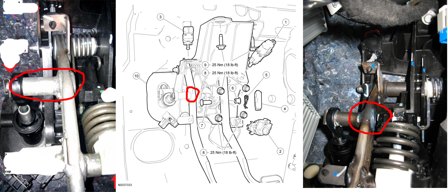 I do not see a way for it to stay in the hole on the clutch arm, I can put  it back in but it just falls out after 1 press of the pedal.